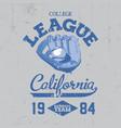 california college league poster vector image