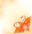 Autumnal background with set orange leaves vector image