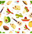 aztec theme cartoon mexican food tequila red vector image vector image