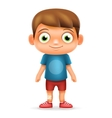 Boy Realistic 3d Child Cartoon Character Icon vector image vector image