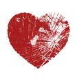 broken valentine heart vector image
