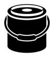 bucket icon simple style vector image vector image