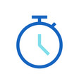business deadline filled line icon blue color vector image vector image