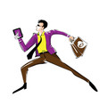 business-man-running vector image vector image