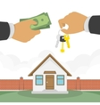 Buying a house vector image vector image