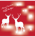 Card With Deer vector image