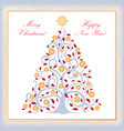 christmas background new year tree happy winter vector image vector image