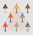 collection of warning traffic sign railroad vector image vector image