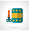 Color paper and scissors flat icon vector image vector image