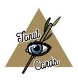 Color vintage tarot cards emblem vector image vector image