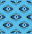 conceptual dotted blue evil eyes symbols pattern vector image vector image