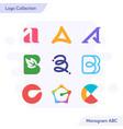 Creative monogram logo collection letter a b c
