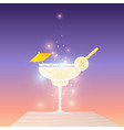 daiquiri cocktail vector image