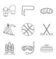 descent icons set outline style vector image vector image