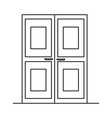 double doors icon vector image