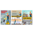 electricity engineering plant electrical services vector image vector image