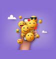 emoji different kinds emoticons design vector image