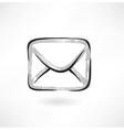 envelope grunge icon vector image vector image