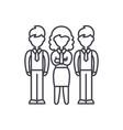 financial team line icon concept financial team vector image vector image