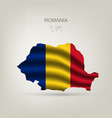 Flag of Romania as a country vector image vector image