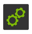Gears Icon from Commerce Buttons OverColor Set vector image