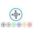 global freelance rounded icon vector image