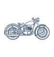 Hand drawn vintage motorcycle logo design