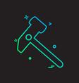 hardware tools icon design vector image vector image