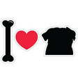 I love pugs in black with american symbols vector image vector image