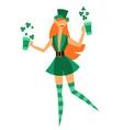 irish fantastic character vector image
