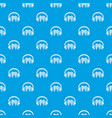 listen tooth pattern seamless blue vector image vector image