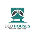 logo an orphanage or nursing home vector image vector image