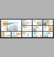 modern minimalistic presentation templates set vector image vector image