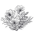 monochrome and rustic decoration floral vector image vector image