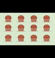 Muffin emoji vector image