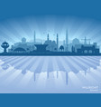 muscat oman city skyline silhouette vector image vector image