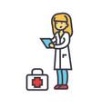 nurse doctor concept line icon editable vector image