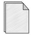 paper document isolated icon vector image vector image