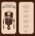 restaurant menu template menu brochure for vector image