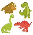 set isolated dinosaur vector image