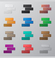 set of colorful bricks vector image vector image