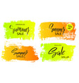 set of colorful summer sale banners frames boxes vector image vector image