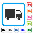 shipment van framed icon vector image vector image