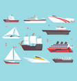 ships at sea shipping boats ocean transport vector image vector image