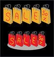 Shopping Bags for sale 50 percent discount vector image
