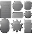 Silver label frame EPS 10 vector image vector image