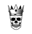 skull in king crown design elements for logo vector image