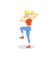sportive young woman exercising girl working out vector image vector image