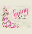 the spring sale card vector image vector image