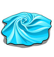 the tissue sample is of blue color isolated on vector image vector image